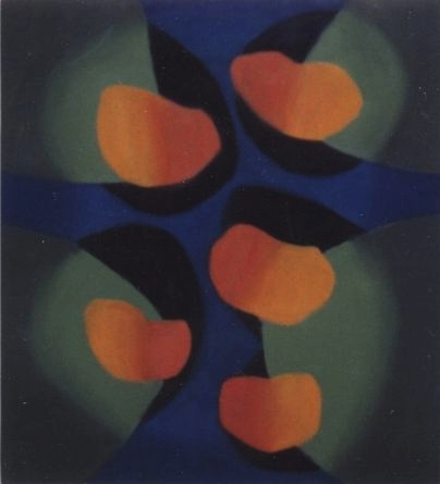 Zonder Titel (Z.T.), olieverf op doek, 100x110, &#39;97